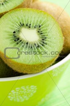 kiwi fruit in bowl