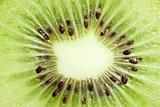 macro shot of kiwi fruit