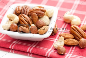 various nuts