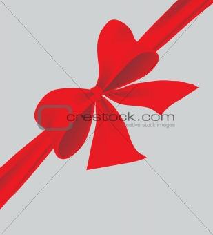 Big bow of red ribbon