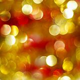 Golden and red Christmas lights