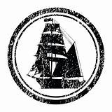 Stamp with brigantine