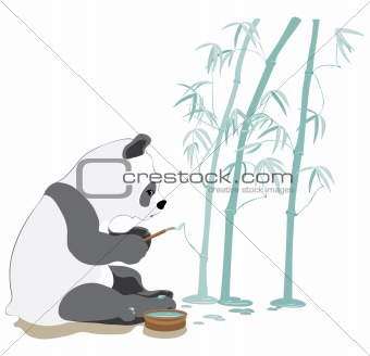 Painting panda