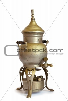 Antique coffeepot with spirit lamp