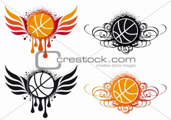 abstract basketball, vector
