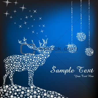 abstract christmas deer