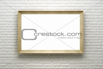 blank frame on the brick wall