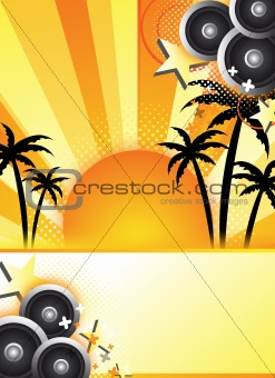 abstract summer party design