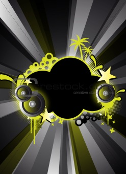 abstract black party design