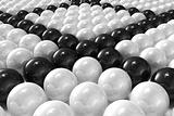 White and black patterned 3D balls
