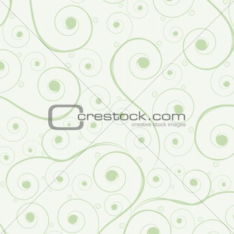 Green curl background