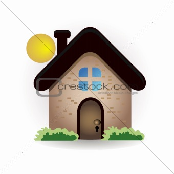 house and sun icon