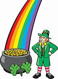 Leprechaun, Pot o' Gold, Shamrock