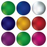 Vector Set of buttons, design elements.