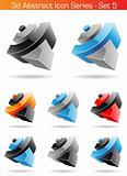 3d Abstract Icon Series - Set 5