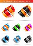 3d Abstract Icon Series - Set 6