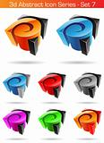 3d Abstract Icon Series - Set 7