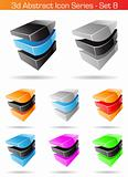 3d Abstract Icon Series - Set 8