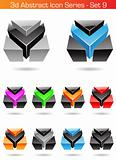 3d Abstract Icon Series - Set 9