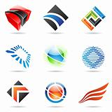 Various colorful abstract icons, set 1
