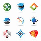 Various colorful abstract icons, Set 18