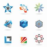 Various colorful abstract icons, Set 2