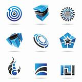 Abstract blue and black Icon Set 16