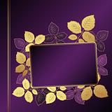 Vector lilac floral background