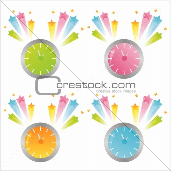 clocks with splashes