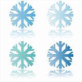 glossy snowflakes