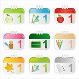 school calendar icons