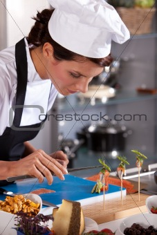 Chef styling an amuse