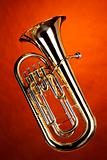 Tuba Euphonium Isolated On Gold