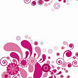 Vector. Pink flower. Floral background. To see similar, please v