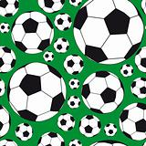 Seamless Background with soccer balls.