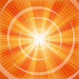 Vector Bright Orange rays