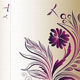 EPS10 vector sketch flower