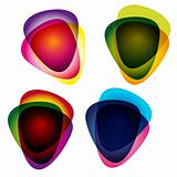 Set of multicolor picks. Abstract vector illustration.