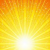 Abstract Solar Vector Background With Rays And Stars