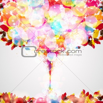 abstract flora background