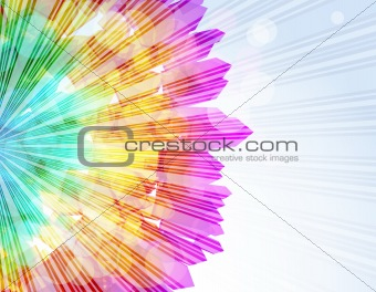 Abstract fly arrow shapes vector background