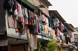 Hanging Cloths in Jakarta