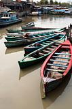 Boats in Jakarta slum