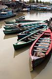 Boats in Jakarta slum
