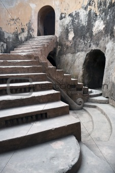 Ancient royal stairs detail