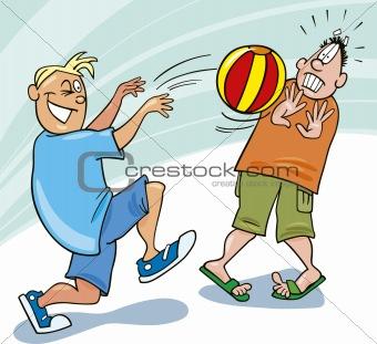 boys playing ball