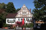 Traditional half-timbered house in Siegerland, Germany