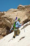 Climbing a mountain