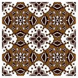 Seamless Dark Brown Javanese Batik Pattern