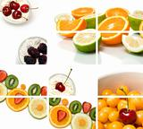 colorful fruit composition